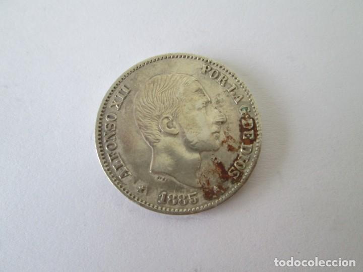 ALFONSO XII * 50 CENTAVOS DE PESO 1885 * FILIPINAS * PLATA (Numismática - España Modernas y Contemporáneas - De Isabel II (1.834) a Alfonso XIII (1.931))