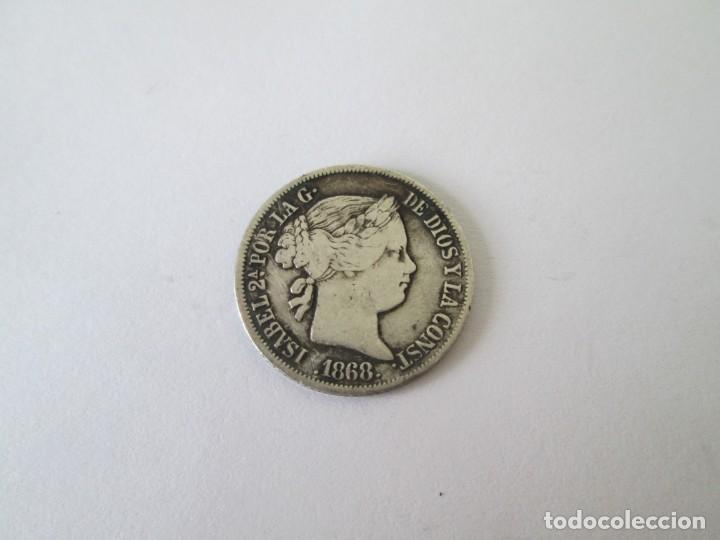 ISABEL II * 20 CENTAVOS DE PESO 1868 * FILIPINAS * PLATA (Numismática - España Modernas y Contemporáneas - De Isabel II (1.834) a Alfonso XIII (1.931))