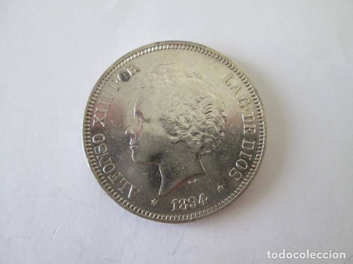 ALFONSO XIII * 5 PESETAS 1894*94 PG V * PLATA (Numismática - España Modernas y Contemporáneas - De Isabel II (1.834) a Alfonso XIII (1.931))