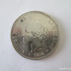 Monedas de España: ALFONSO XIII * 5 PESETAS 1894*94 PG V * PLATA. Lote 213547572