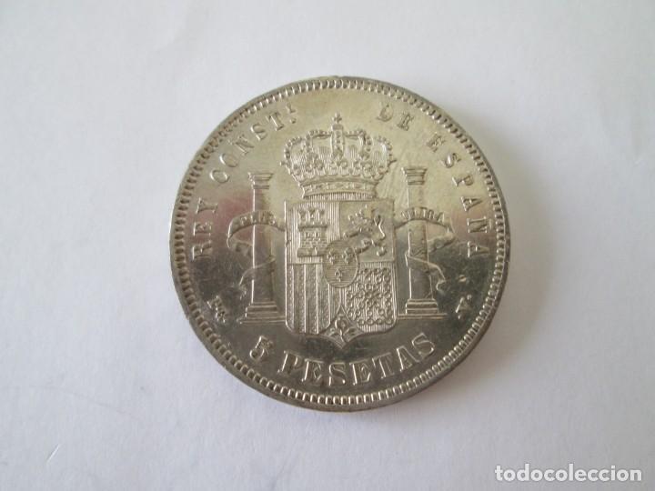 Monedas de España: ALFONSO XIII * 5 PESETAS 1894*94 PG V * PLATA - Foto 2 - 213547572