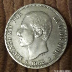 Monedas de España: 2 PESETAS ALFONSO XII 1882 MSM (PLATA). Lote 213587545