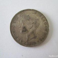 Monedas de España: ALFONSO XIII * 5 PESETAS 1898*98 SG V * PLATA. Lote 214020318