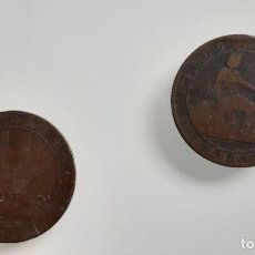 Monedas de España: 2 MONEDAS DE 5 CENTIMOS DE LA REPÚBLICA PROVISIONAL 1870.. Lote 214118976