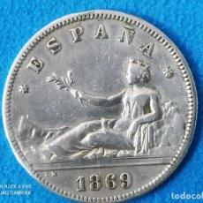 Monedas de España: ESPAÑA 2 PESETAS, 1869 18 Y 68 DENTRO DE LA ESTRELLA MBC+ PLATA - VARIANTE REF 3018. Lote 214475492