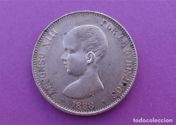 Monedas de España: Lote 3 duros de Plata (Alfonso-XIII 1890 *18/90) (Alfonso-XIII 1888 *18/88) (Alfonso-XIII 1898 *18) - Foto 3 - 214529743
