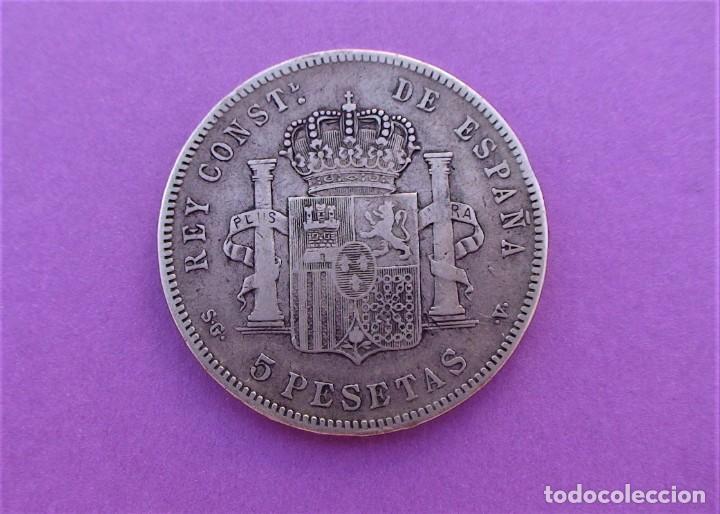 Monedas de España: Lote 3 duros de Plata (Alfonso-XIII 1890 *18/90) (Alfonso-XIII 1888 *18/88) (Alfonso-XIII 1898 *18) - Foto 4 - 214529743