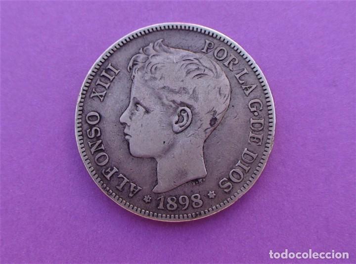 Monedas de España: Lote 3 duros de Plata (Alfonso-XIII 1890 *18/90) (Alfonso-XIII 1888 *18/88) (Alfonso-XIII 1898 *18) - Foto 5 - 214529743