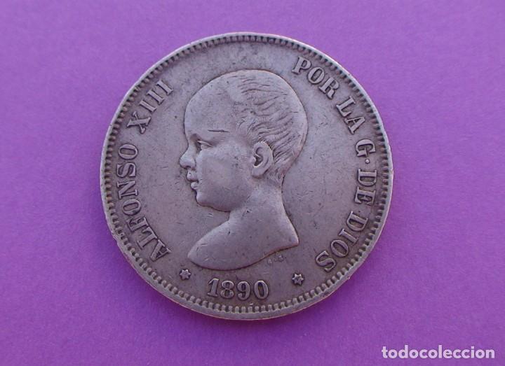Monedas de España: Lote 3 duros de Plata (Alfonso-XIII 1890 *18/90) (Alfonso-XIII 1888 *18/88) (Alfonso-XIII 1898 *18) - Foto 7 - 214529743