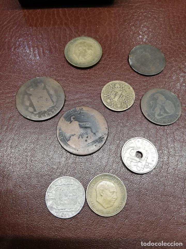 9 MONEDAS PESETAS ESPAÑOLAS HISTÓRICAS DESDE 1870 A 1953 (Numismática - España Modernas y Contemporáneas - De Isabel II (1.834) a Alfonso XIII (1.931))
