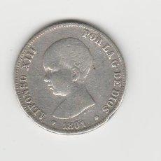 Monedas de España: ALFONSO XIII- 2 PESETAS- 1891-PGM- RARA. Lote 215088258