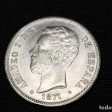 Monedas de España: MONEDA DE AMADEO DE SABOYA DE 5 PESETAS PLATA , 1871, ESTRELLA 71 S/C. Lote 215154652