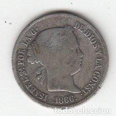 Monedas de España: MONEDA DE PLATA DE 40 CENTIMOS DE ESCUDO 1866 - MADRID. Lote 215360841
