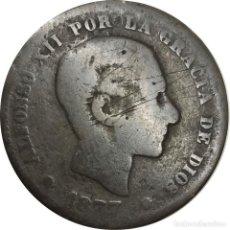 Monedas de España: ESPAÑA. 5 CÉNTIMOS DE 1877 (ALFONSO XII), BARCELONA OM. (169).. Lote 215367453