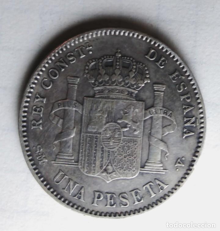 Monedas de España: ESPAÑA 1 peseta 1900 ESTRELLAS *19 *00 PLATA. ¡¡¡¡LIQUIDACION COLECCION!!!!! - Foto 3 - 215397417