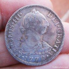 Monete da Spagna: ESCASOS 2 REALES CARLOS III 1772 MEXICO ENSAYADORES INVERTIDOS MUY BONITA PIEZA. Lote 215708656