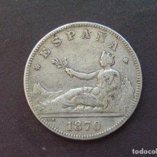 Monedas de España: GOBIERNO PROVISIONAL - 2 PESETAS 1870 (18-7 ). Lote 215723108