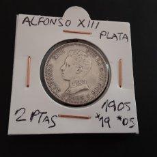Monedas de España: MONEDA PLATA DE 2 PESETAS 1905 ESTRELLA *19*05 ALFONSO XIII ESTRELLAS VISIBLES MUY BONITA. Lote 215815888