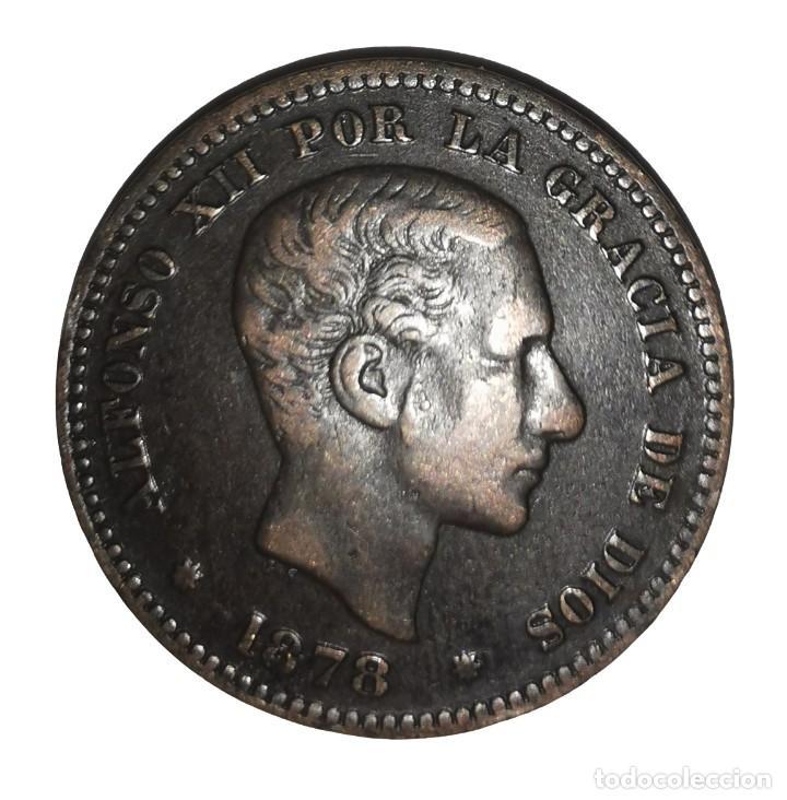 MONEDA DE 5 CENTIMOS.ALFONSO XII-AÑO 1878 (Numismática - España Modernas y Contemporáneas - De Isabel II (1.834) a Alfonso XIII (1.931))