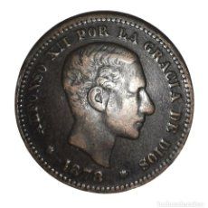 Monedas de España: MONEDA DE 5 CENTIMOS.ALFONSO XII-AÑO 1878. Lote 216513911