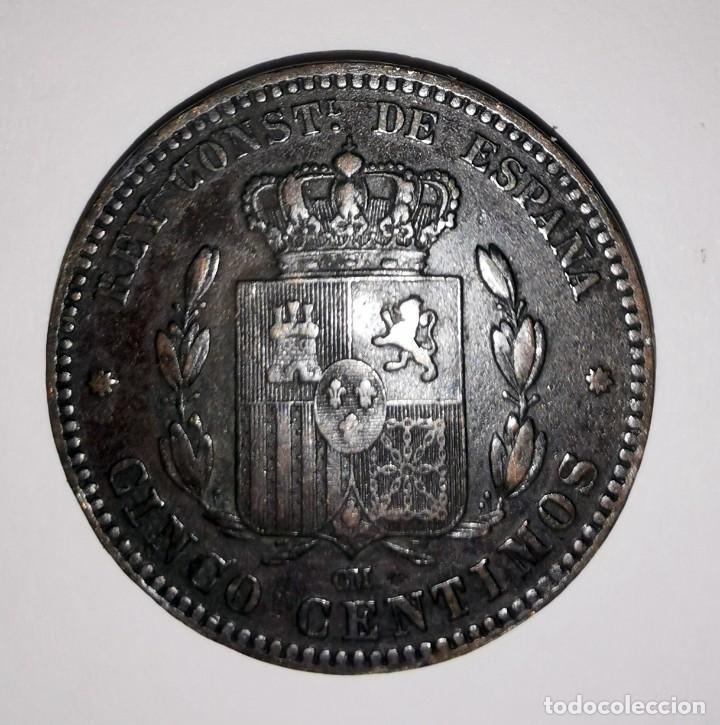 Monedas de España: MONEDA DE 5 CENTIMOS.ALFONSO XII-AÑO 1878 - Foto 2 - 216513911