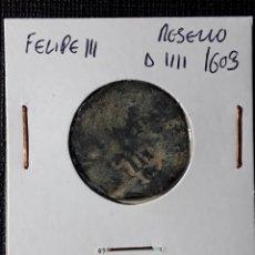Monedas de España: FELIPE III RESELLO A IIII 1603. Lote 216523523