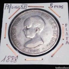 Monedas de España: 5 PTAS 1888 M.P.M., PLATA. ALFONSO XIII. Lote 216728201