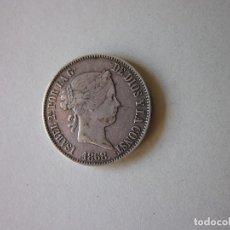 Monedas de España: ESCUDO DE ISABEL II. MADRID 1868. 18-68. PLATA.. Lote 216894343