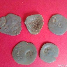 Monedas de España: LOTE DE 5 RESELLOS DE FELIPE IV.. Lote 217076941