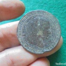 Monedas de España: 10 CENTIMOS DE ISABEL II, CECA BARCELONA, FECHA 1867. Lote 217235353