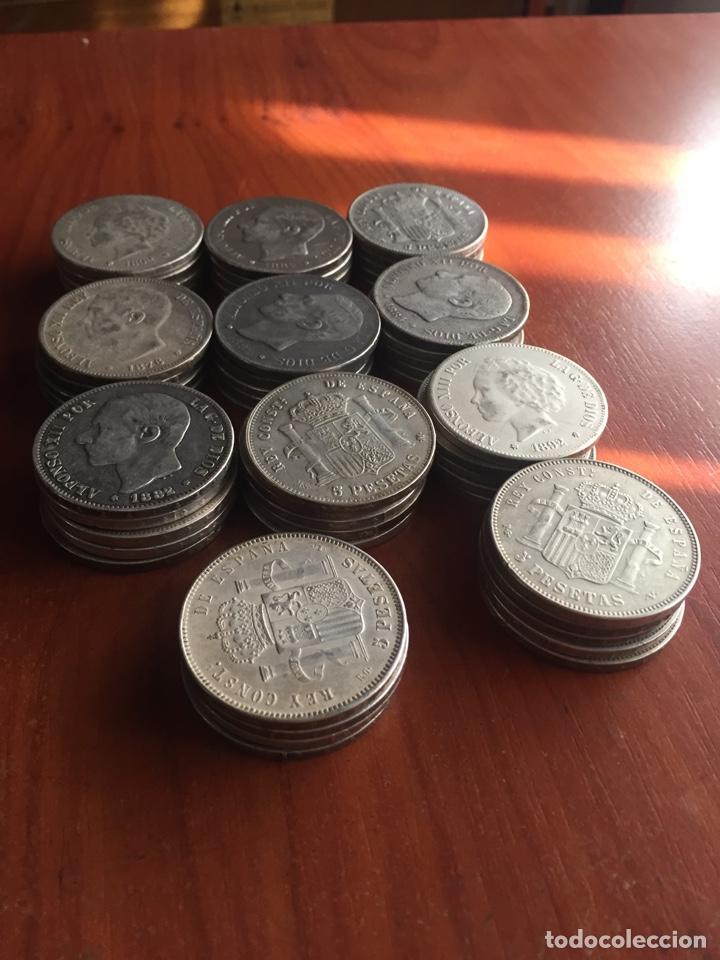 Monedas de España: Monedas 5 pesetas - Foto 2 - 217460010