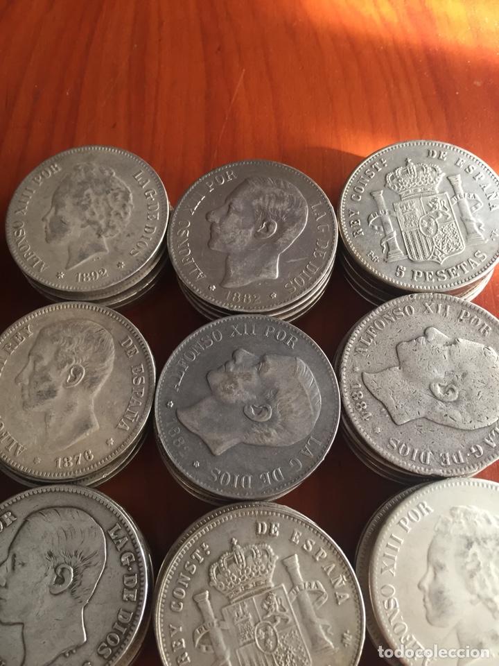 Monedas de España: Monedas 5 pesetas - Foto 3 - 217460010