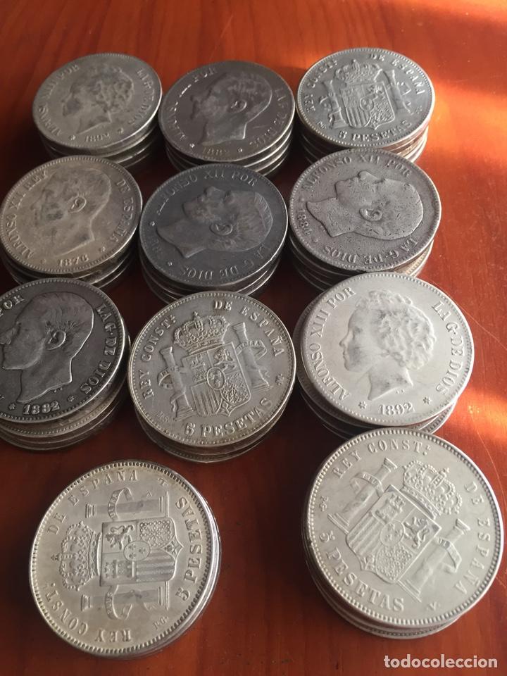 Monedas de España: Monedas 5 pesetas - Foto 4 - 217460010