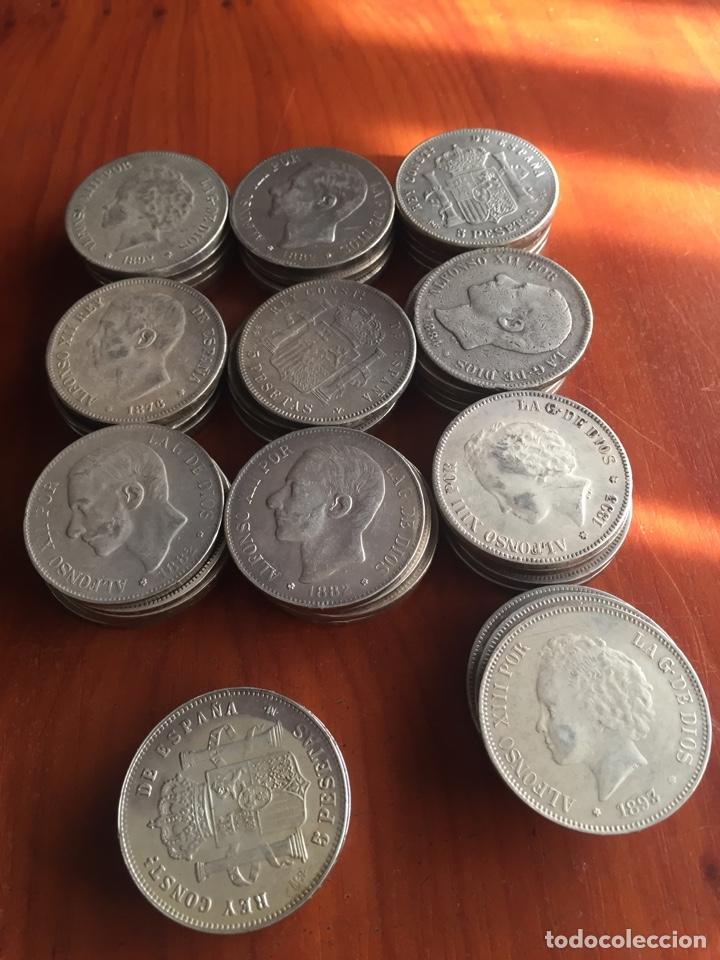 Monedas de España: Monedas 5 pesetas - Foto 5 - 217460010