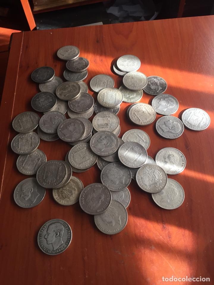 Monedas de España: Monedas 5 pesetas - Foto 9 - 217460010