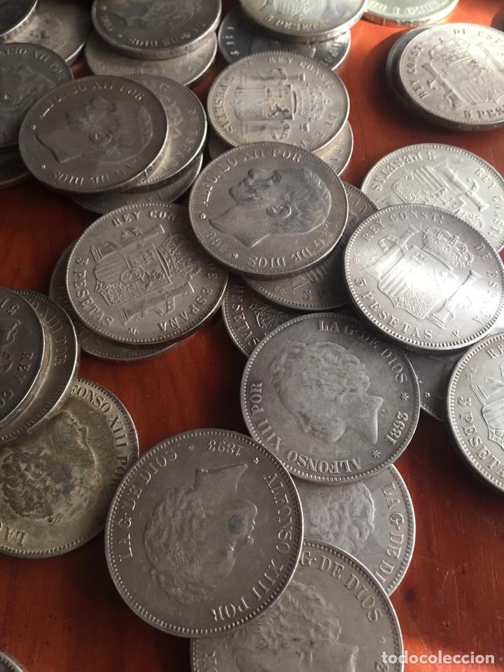Monedas de España: Monedas 5 pesetas - Foto 10 - 217460010