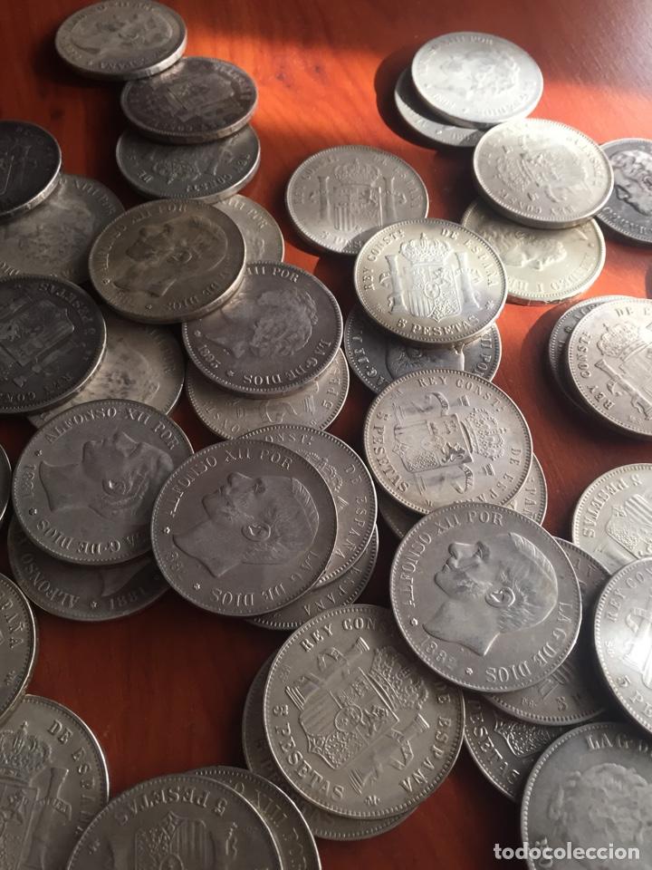 Monedas de España: Monedas 5 pesetas - Foto 11 - 217460010