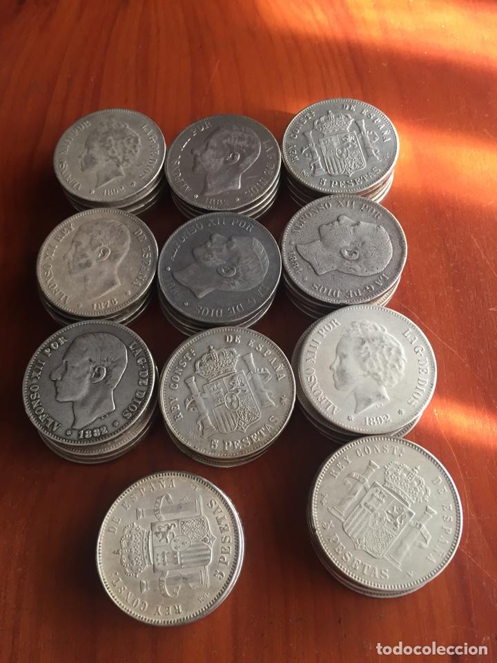 MONEDAS 5 PESETAS (Numismática - España Modernas y Contemporáneas - De Isabel II (1.834) a Alfonso XIII (1.931))