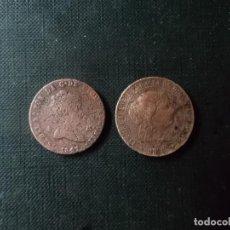 Monedas de España: 2 MONEDAS DE 4 MARVEDIS Y 2 CENTIMOS DE ESCUDO ISABEL II 1806 Y 1841. Lote 217466810