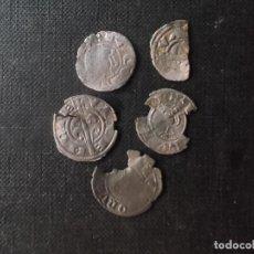 Monedas de España: CONJUNTO DE VELLONES 4 + OVALILO FERRAN II Y PERE III CATALUÑA VALENCIA PLATA. Lote 217502438