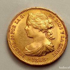 Monedas de España: 10 ESCUDOS 1868 *18-73 MADRID PESO 8,45G S/C PRECIOSA.. Lote 217680265