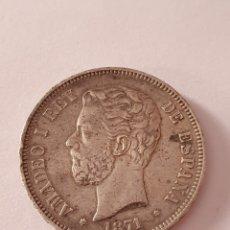 Monedas de España: 5 PESETAS DE AMADEO I REY DE ESPAÑA 1871 * 18-71. Lote 217692753