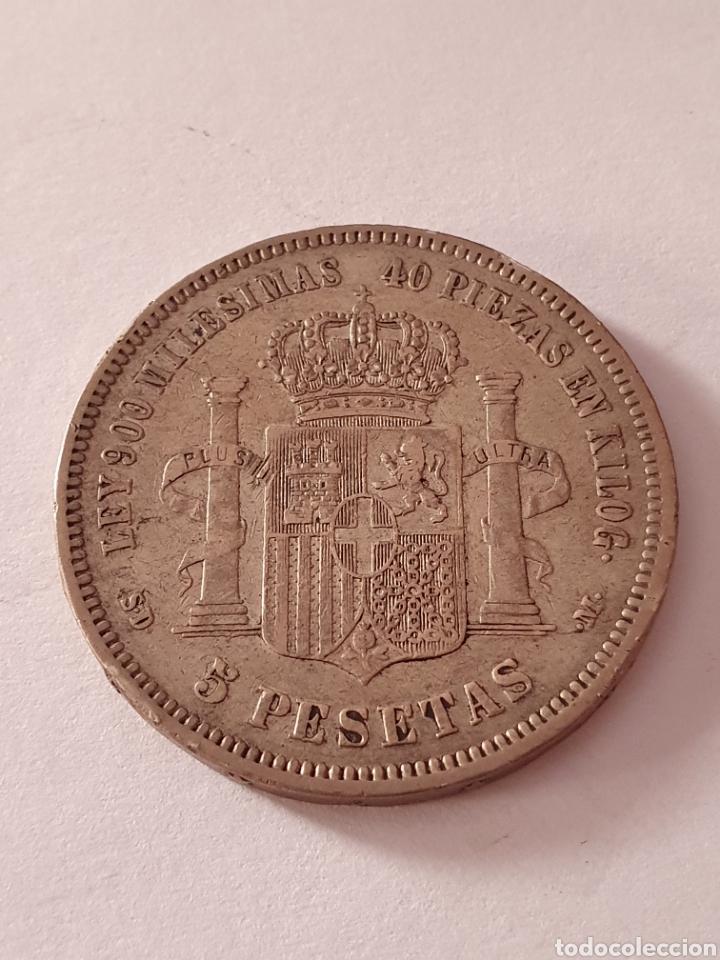 Monedas de España: 5 PESETAS DE AMADEO I REY DE ESPAÑA 1871 (*18-71) - Foto 3 - 217693928