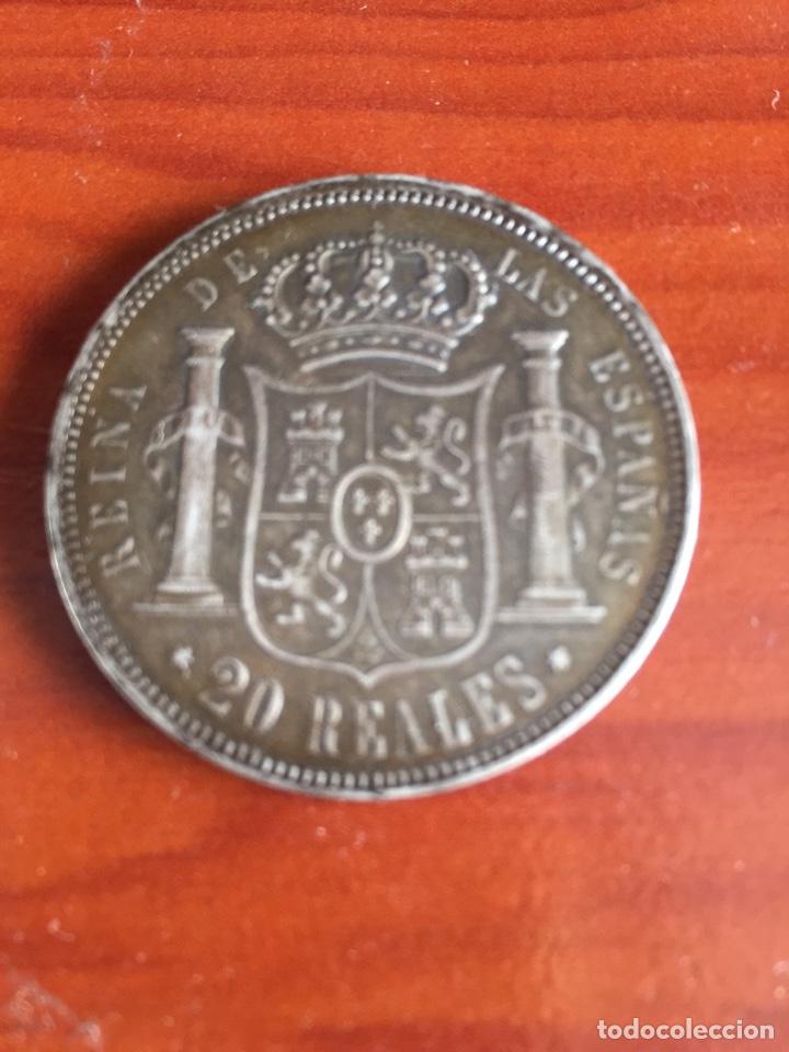 Monedas de España: Moneda 20 reales 1855 - Foto 3 - 217711401