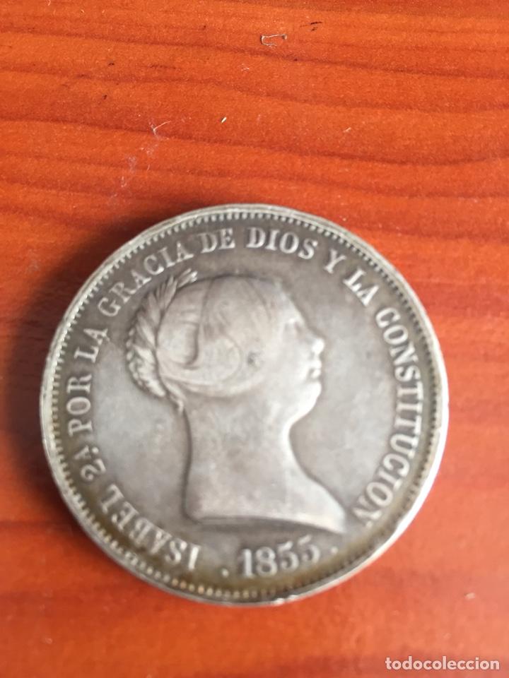 Monedas de España: Moneda 20 reales 1855 - Foto 8 - 217711401