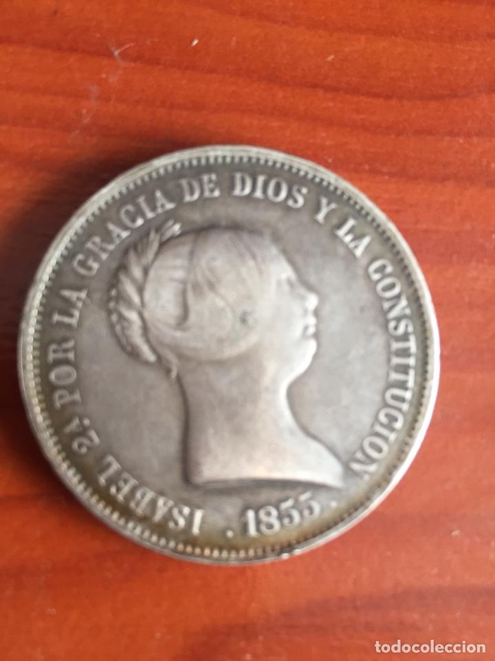 Monedas de España: Moneda 20 reales 1855 - Foto 9 - 217711401