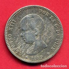 Monedas de España: MONEDA PLATA 1 PESETA 1889 MBC+' ESTRELLAS VISIBLES 89 ORIGINAL , B32. Lote 217715792