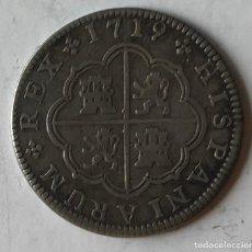 Monedas de España: MONEDA DE DOS REALES DE FELIPE V, SEGOVIA, 1719. Lote 217734133