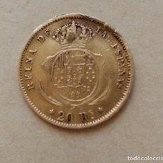 Monedas de España: MONEDA ORO 20 REALES ISABEL II 2 - 1861 - CON MARCAS. Lote 217738703