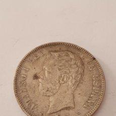 Monedas de España: 5 PESETAS AMADEO I REY DE ESPAÑA 1871 (*18-74). Lote 217805940